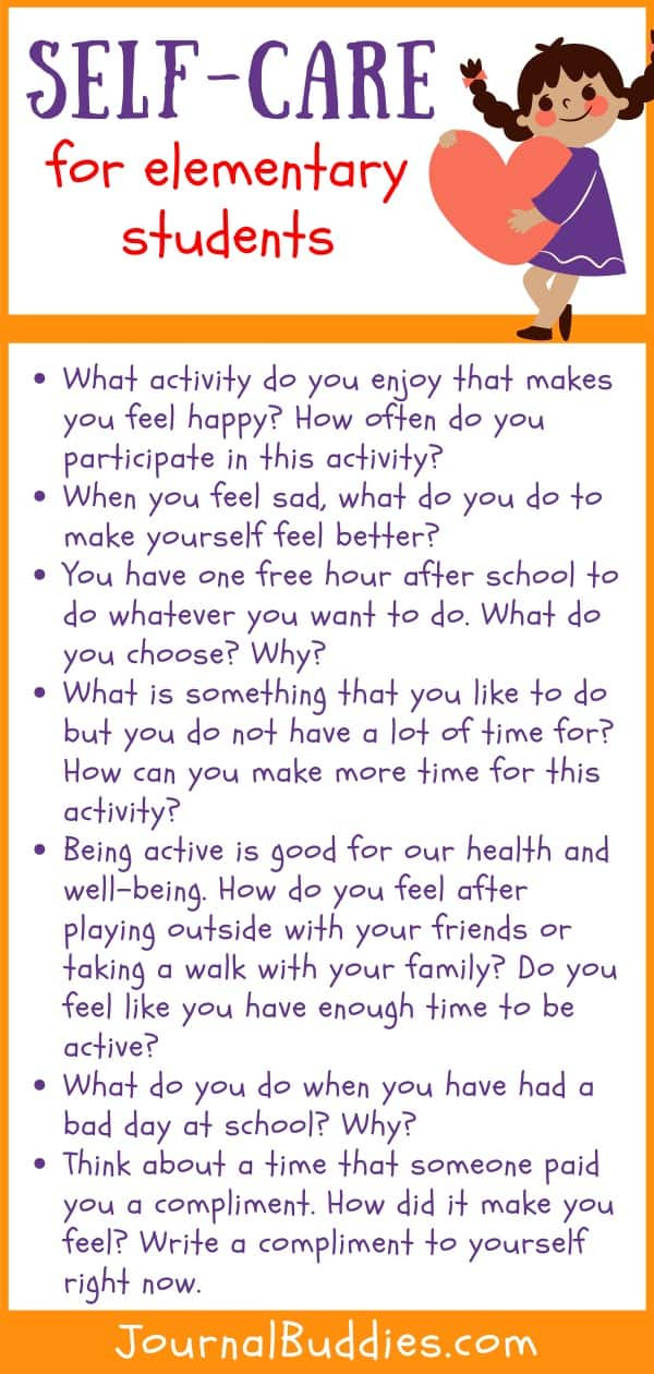 Elementary School Self-Care Writing Prompts