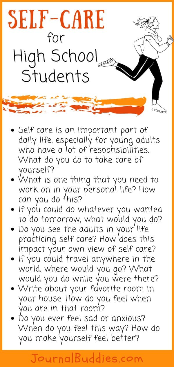 High School Self-Care Writing Prompts
