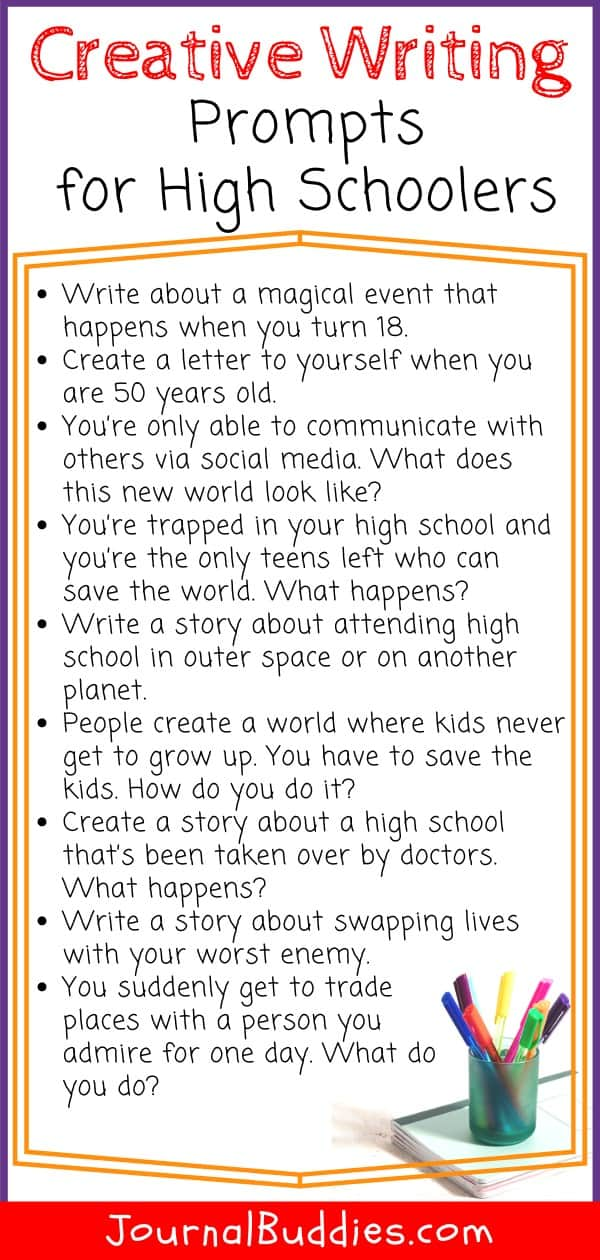 Bonus Creative Writing Prompts for High School Students