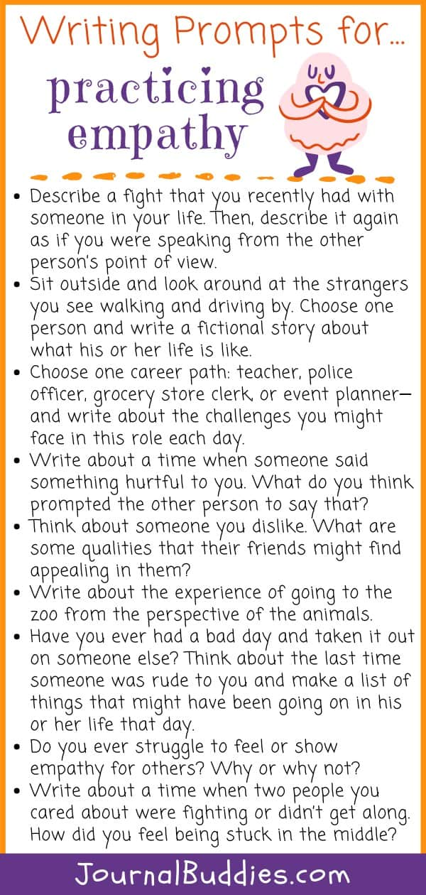 Writing Prompts for Empathy