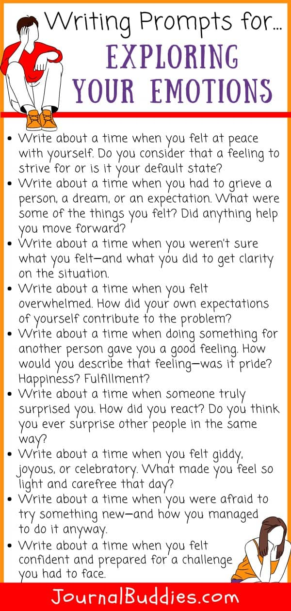 Writing Prompts for Exploring Emotions
