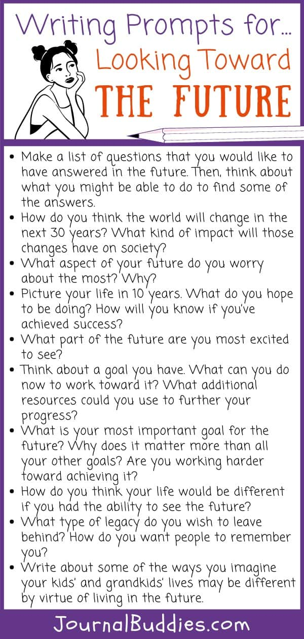 Writing Prompts for Looking Toward Future