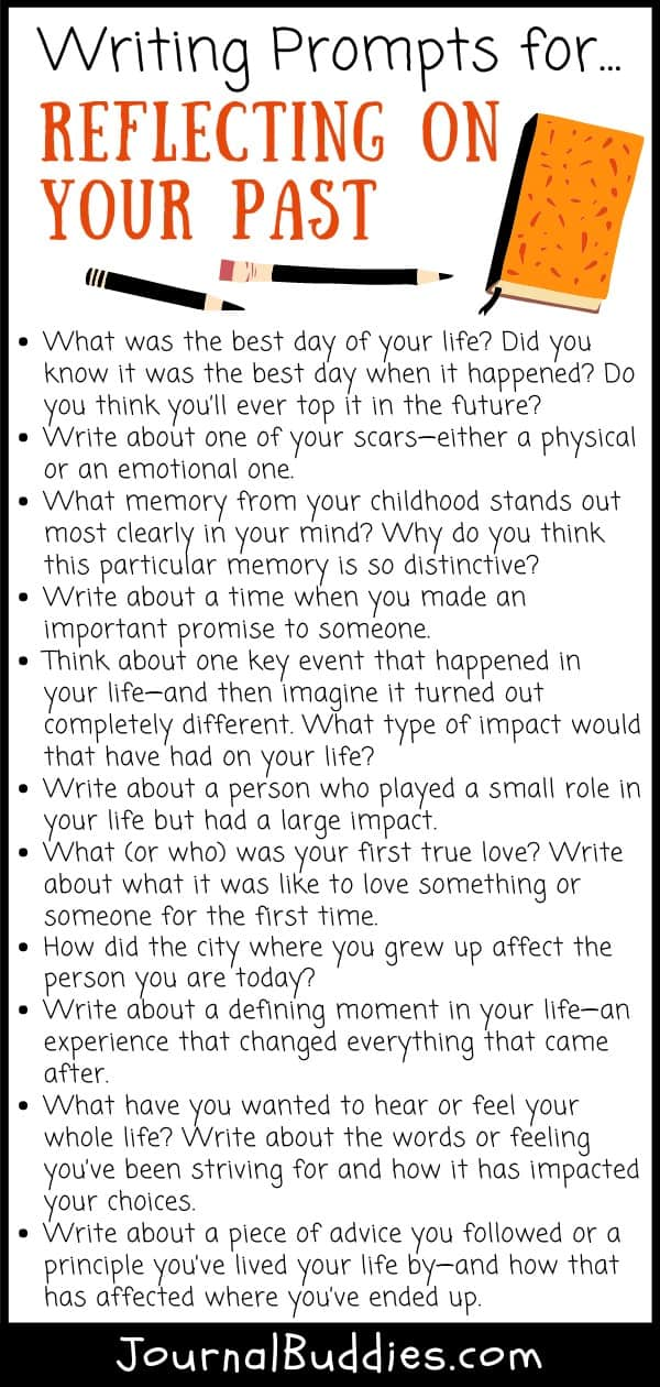 Writing Prompts for Reflecting