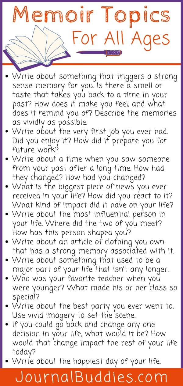 Memoir Topics for All Ages
