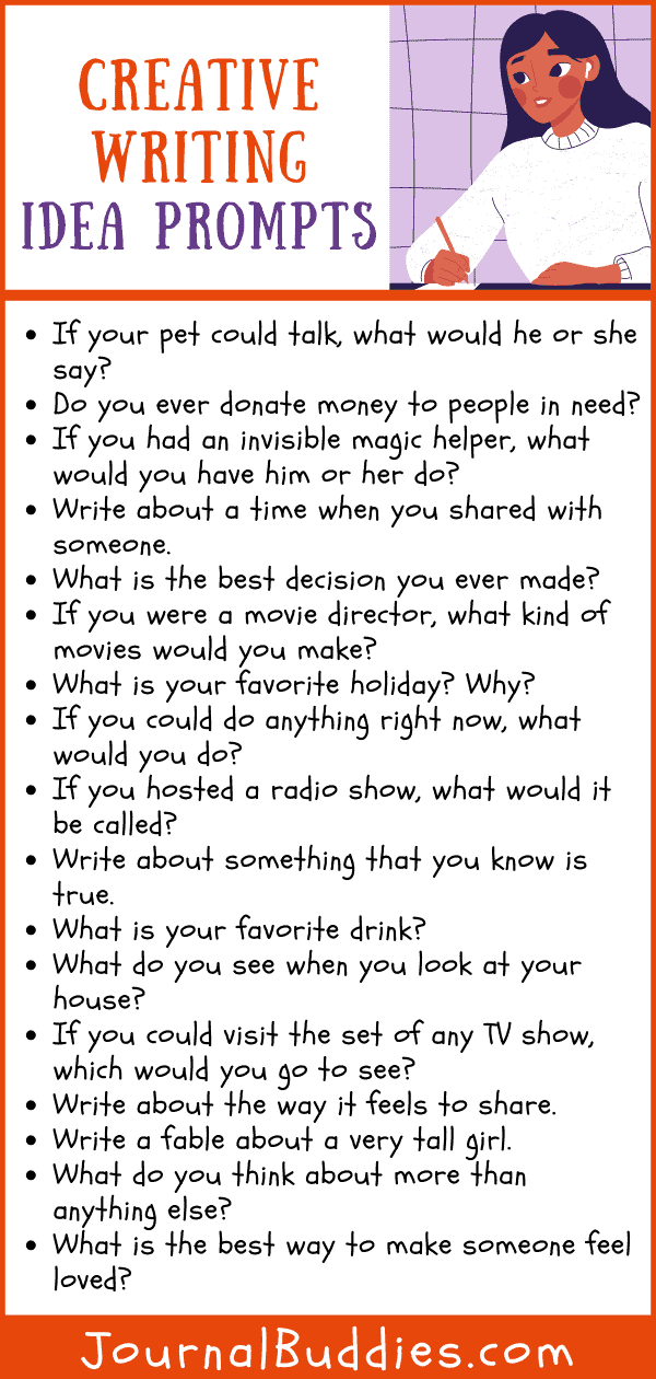 Creative Writing Ideas Prompts for Students