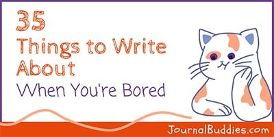 Boredeom Busting Writing Prompts